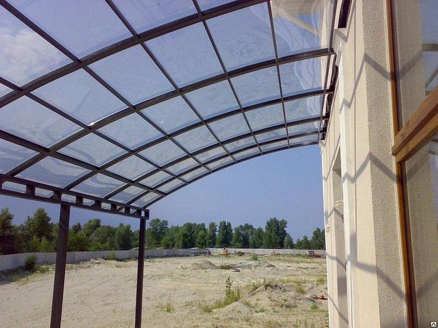Навес из  прозрачного поликарбоната, фото 2