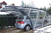 Навес из стекла для  автомобиля