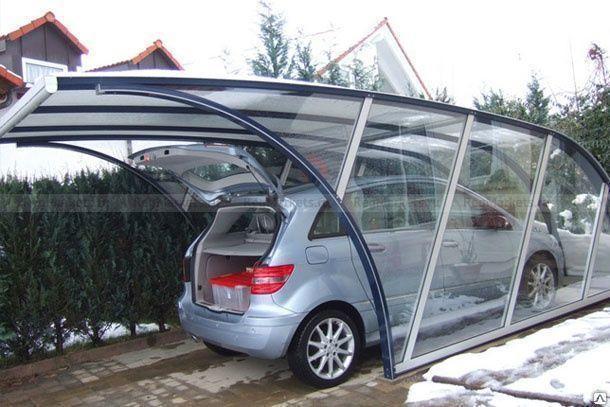Навес из стекла для  автомобиля, фото 2