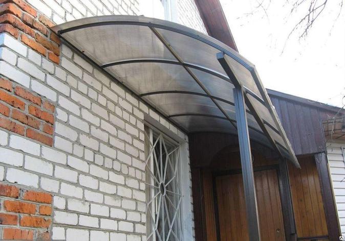 Пристенный навес из  поликарбоната, фото 2