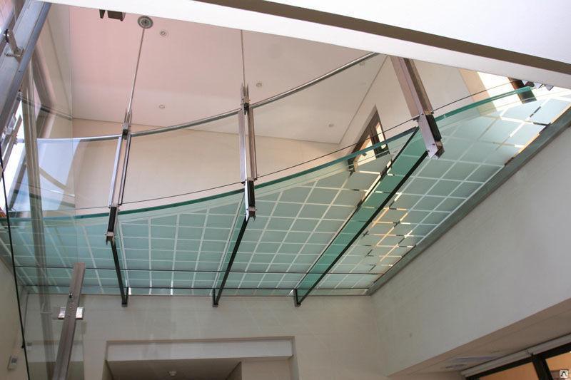 Установка стеклянных конструкций