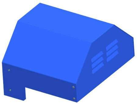 Кожух Systemair WSD 100 (1060x1060x70) compl.