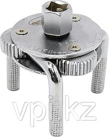 Ключ съемник масляного фильтра, зажимной (краб), 3-х лапый,  65-110 мм, АвтоДело