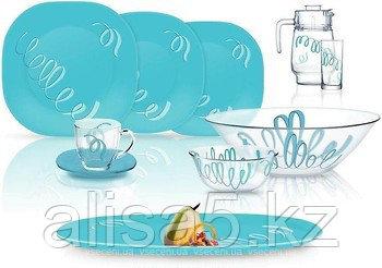 Serpentine blue сервиз столовый 69 предметов на 12 персон тарелки