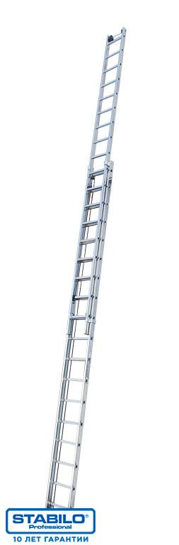 Двухсекционная лестница с перекладинами, выдвигаемая тросом 2х15 пер. KRAUSE STABILO