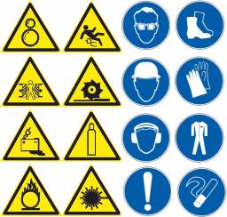Предупреждающие и предписывающие знаки