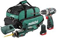 Набор аккумуляторных инструментов Metabo Combo Set 2.4: PowerMaxx BS Basic + PowerMax ASE, 2х2Ач, сумка