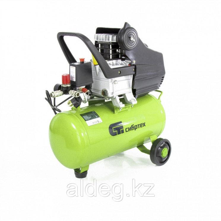 Компрессор воздушный КК-1100/22, 1,1 кВт, 135 л/мин, 22 л, прямой привод, масляный// Сибртех