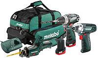 Набор аккумуляторного инструмента Metabo Combo Set 3.2 10.8 В: BS Basic + ASE + SSD, 2х2Ач, сумка