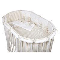 Комплект для овальной кроватки Pituso (Питусо) Мишки, 6 предметов, бежевый