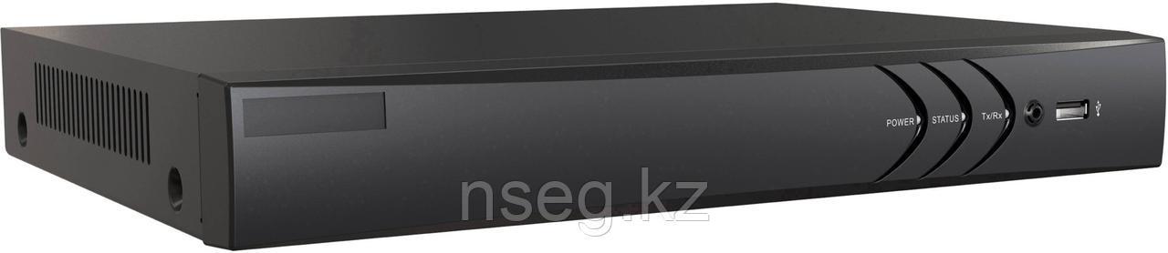 16-х канальный гибридный HD-TVI регистратор для  аналоговых, HD-TVI и AHD камер + 2 IP-камеры@4Мп. DS-H216U