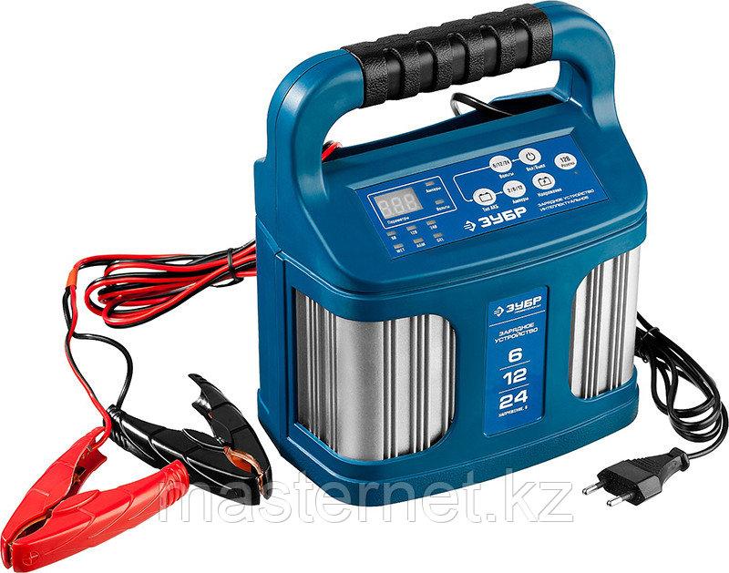 """Зарядное устройство для аккумуляторов 12 А, интеллектуальное, 240 А/ч, 6/12/24 В, 12А, ЗУБР """"ПРОФИ"""" 59305 - фото 2"""