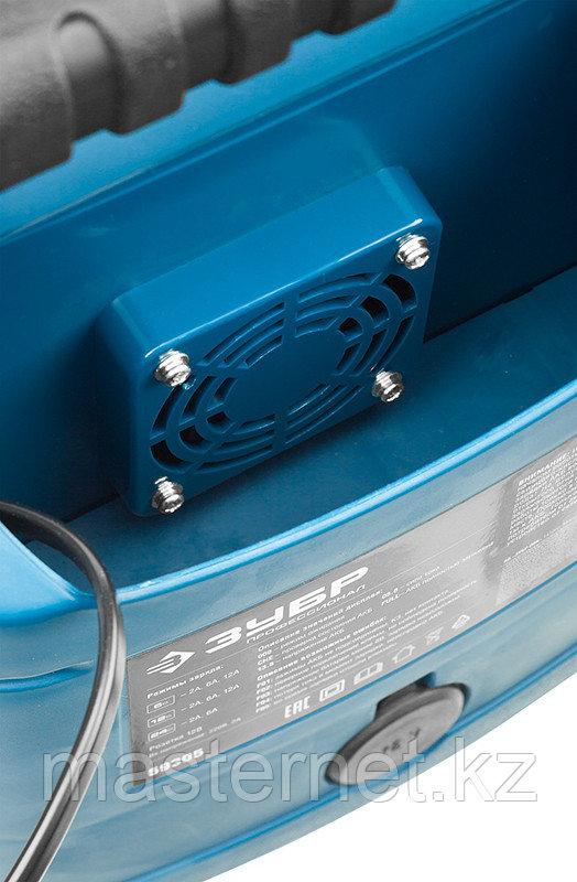 """Зарядное устройство для аккумуляторов 12 А, интеллектуальное, 240 А/ч, 6/12/24 В, 12А, ЗУБР """"ПРОФИ"""" 59305 - фото 4"""