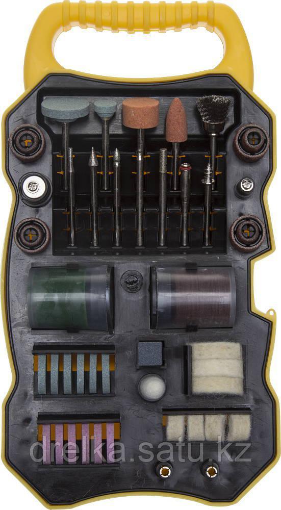 """Набор мини-насадок STAYER """"MASTER"""" для гравировальных машин, 82 предмета, пластиковый кейс"""