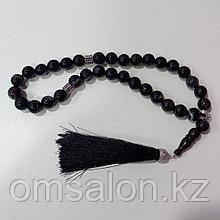 Четки мусульманские (черный агат)