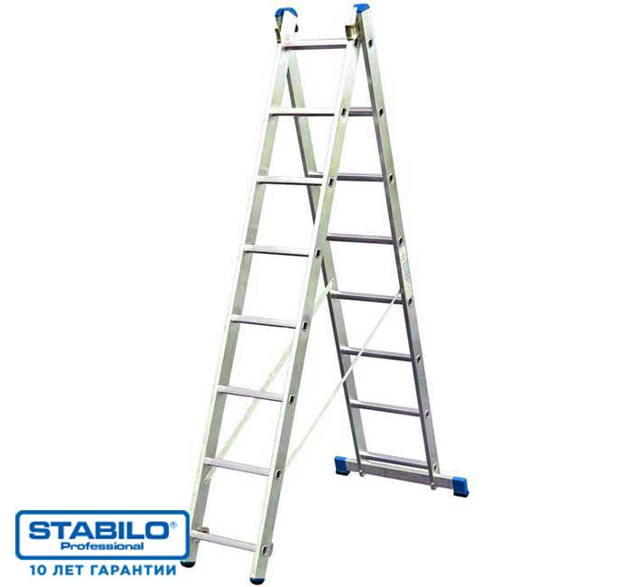 Универсальная лестница с перекладинами, двухсекционная 2х9 пер. KRAUSE STABILO