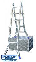 Шарнирная телескопическая лестница с перекладинами 4х5 пер. KRAUSE STABILO, фото 1