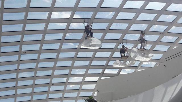 Назарбаев Центр помывка витража изнутри 6500 м2 / 2018 год 22