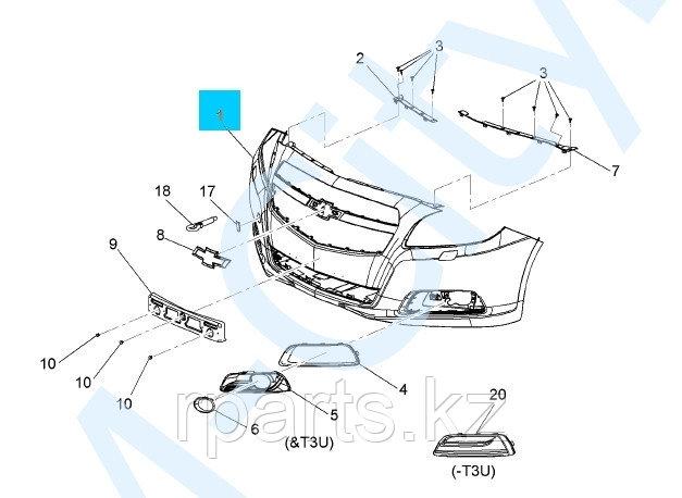 Бампер передний  Chevrolet Malibu/ Шевроле Малибу