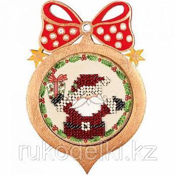 """Ёлочная игрушка для вышивания бисером """"Дед Мороз"""""""