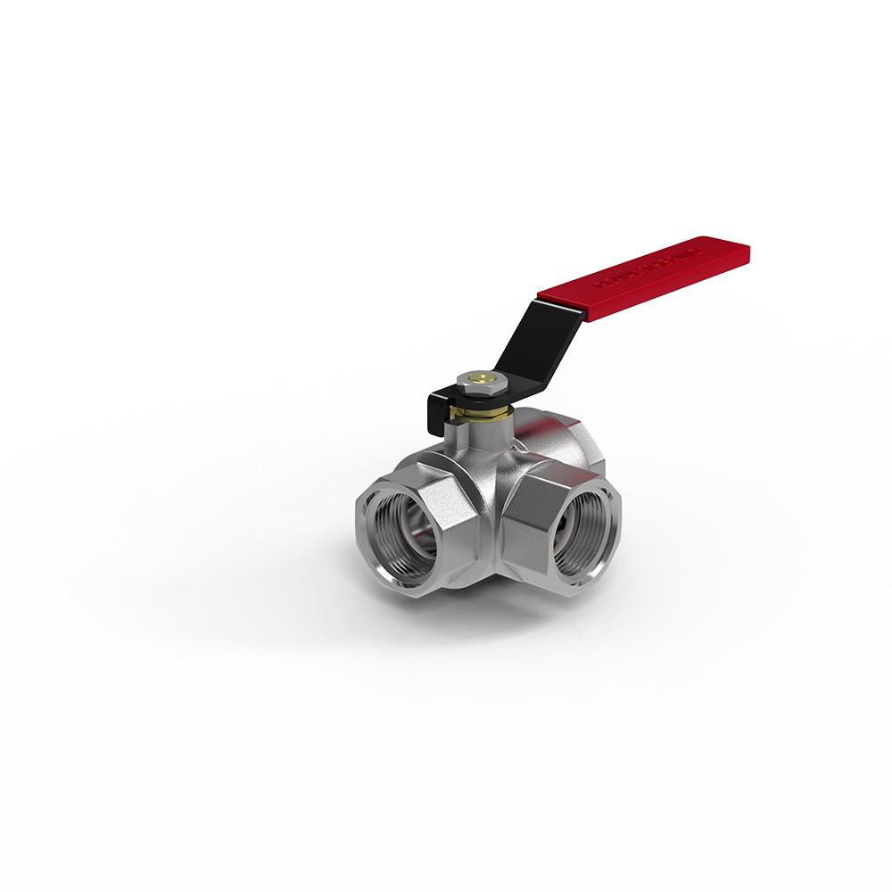 "Кран шаровый Royal Thermo OPTIMAL трехходовой тип T 3/4"""
