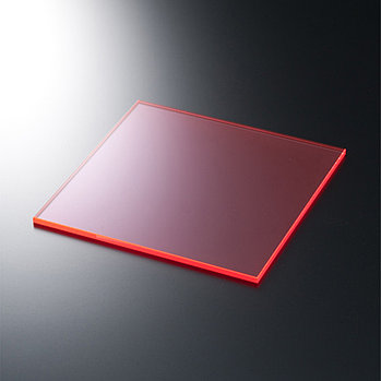 Жесткий листовой PVC пластик флуоресцентный (2мм) 1,22м х2,44м (оранжевый)