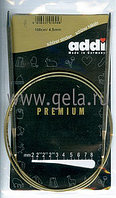 Спицы ADDI,никель,круговые,супергладкие,№ 4,100 см
