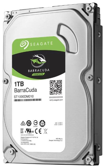 Seagate BarraCuda Жесткий диск HDD 1Tb ST1000DM010