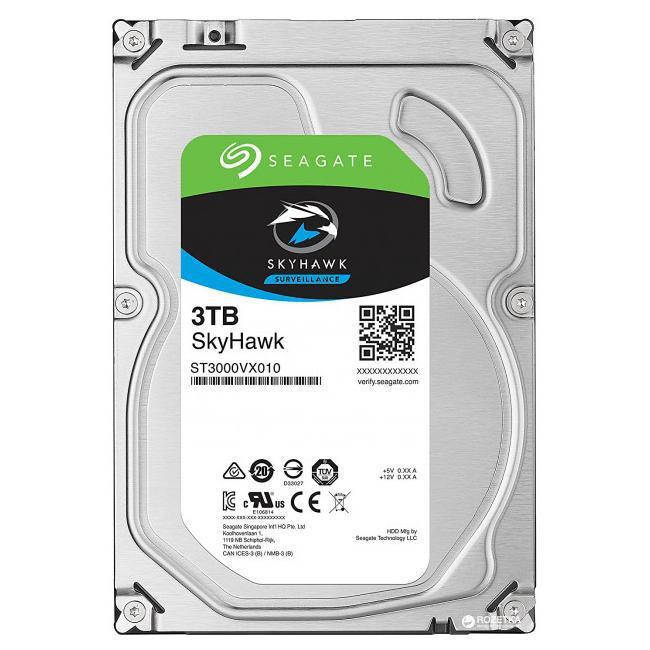 Seagate SkyHawk Жесткий диск для видеонаблюдения 3Tb ST3000VX010