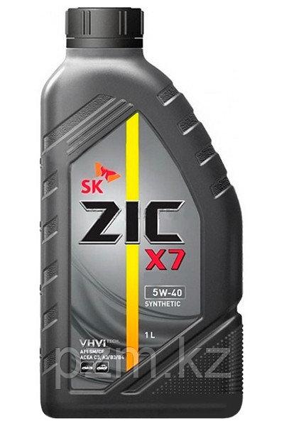 ZIC X7 5W-40 1 литр СИНТЕТИЧЕСКОЕ МОТОРНОЕ МАСЛО