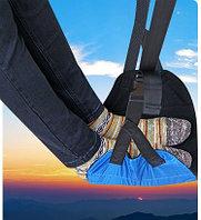 Подставка для ног в самолете. ОДИНАРНАЯ. голубая.