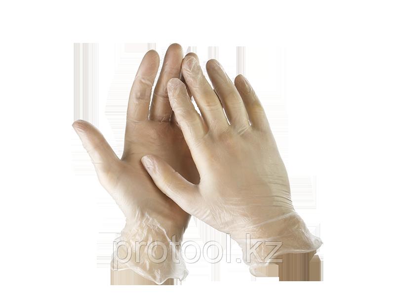"""Перчатки STAYER """"MASTER"""" виниловые экстратонкие, L, 100шт"""
