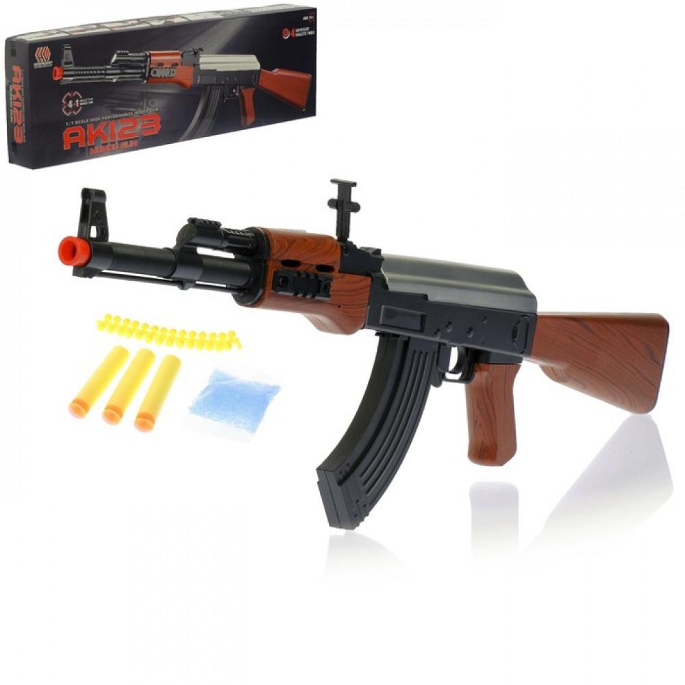 """Автомат пневматический """"АК 123"""", 4 вида снарядов"""