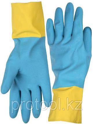 Перчатки STAYER латексные с неопреновым покрытием, экстрастойкие, с х/б напылением, размер XL, фото 2