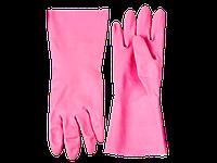 """Перчатки ЗУБР """"МАСТЕР"""" латексные, повышенной прочности, х/б напыление, рифлёные, 100% латекс, 100% хлопок, раз"""