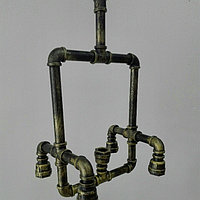 Люстра в стиле лофт из водопроводных труб, фото 1