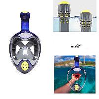 Маска для подводного плавания и ныряние с креплением GoPro. Дышите свободно