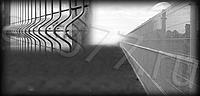 Сетчатые секция забора 3D. Ширина 2,5 метра; Высота  2,0 метра; Диаметр проволоки 5 мм, цинк
