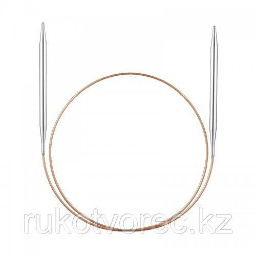 Спицы Addi супергладкие,никель,№ 6,100 см