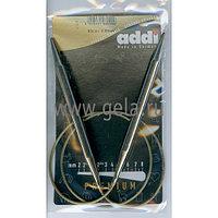 Спицы Addi,супергладкие,никель,№9,80 см