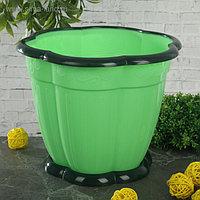 Горшок с поддоном «Восторг», 3 л, цвет зелёный