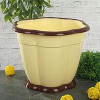 Горшок с поддоном «Восторг», 3 л, цвет светло-жёлтый