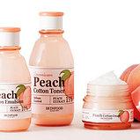 SKINFOOD Premium Peach Cotton Toner Тонер с экстрактом персика для контроля жирности кожи, фото 3