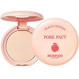 SKINFOOD Peach Cotton Pore Pact Компактная пудра для маскировки расширенных пор, фото 2