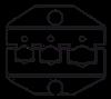 Пресс-клещи CTF с набором матриц, фото 3