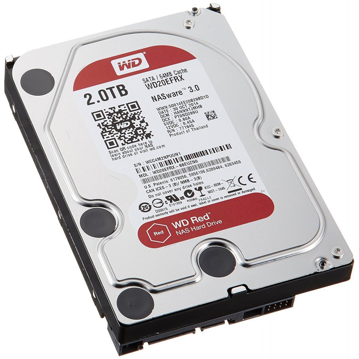 Western Digital Жесткий диск для NAS систем HDD 2Tb WD20EFRX