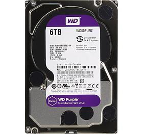 Western Digital Жесткий диск для видеонаблюдения HDD 6Tb WD60PURZ