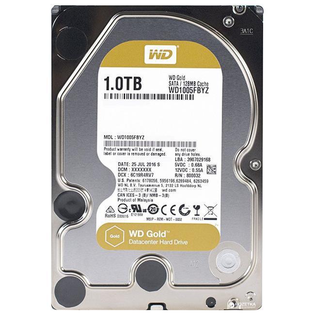 Western Digital Жесткий диск повышенной надежности для ЦОД HDD 1Tb WD1005FBYZ