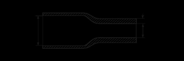 Термоусадочная трубка ТТК(3:1)-18/6 черная