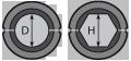 Матрица шестигранная МШ-18,5-А/60т для алюминиевого зажима